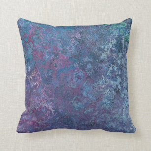shizh Throw Pillow Cover Blue Ufo Alien