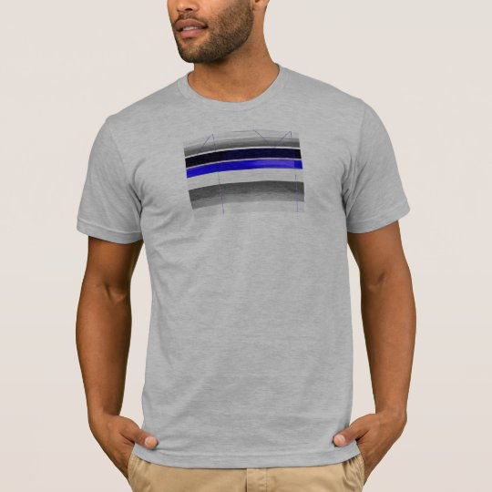 Abstract Blue and Purple T-Shirt