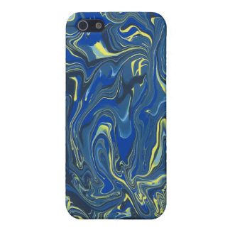 Abstract Blue and Yellow Painting Case For The iPhone 5