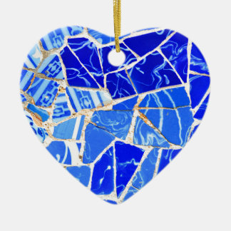 Abstract blue background christmas ornament