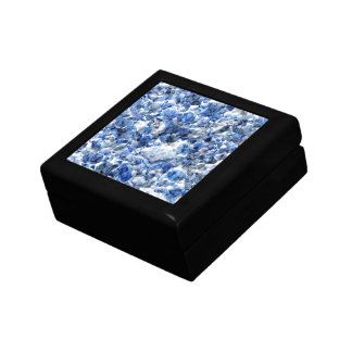 Abstract blue background design gift box