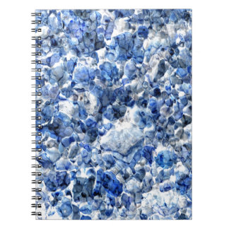 Abstract blue background design notebook