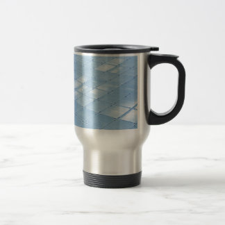 Abstract blue background mugs