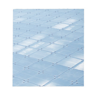 Abstract blue background notepad