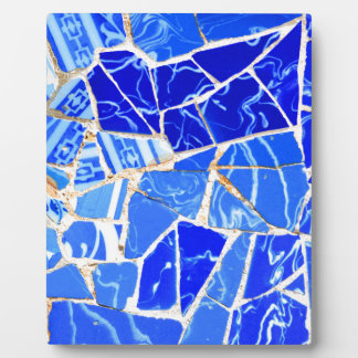 Abstract blue background plaque