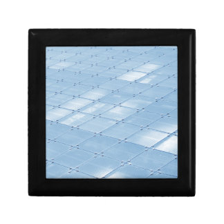 Abstract blue background small square gift box