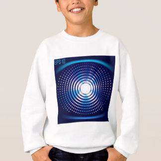 Abstract blue background sweatshirt