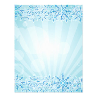 Abstract Blue Background Vector Graphic snowflakes 21.5 Cm X 28 Cm Flyer