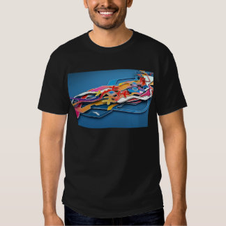 Abstract Blue Background Wild Colors All Around T-shirts