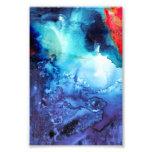 Abstract Blue Batik Pattern