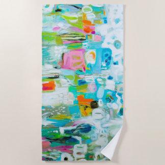 Abstract Blue Beach Towel