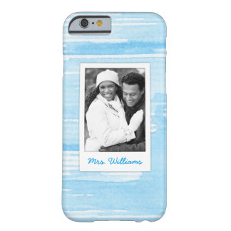 Abstract Blue Blue Texture | Add Photo Barely There iPhone 6 Case