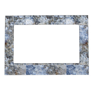 Abstract blue brown vintage marble pattern magnetic picture frame