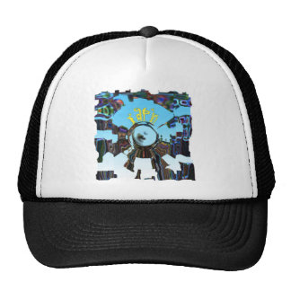 Abstract Blue Cap