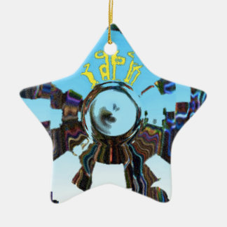 Abstract Blue Christmas Ornament