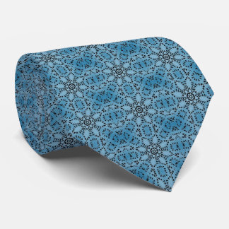 Abstract blue circles tie