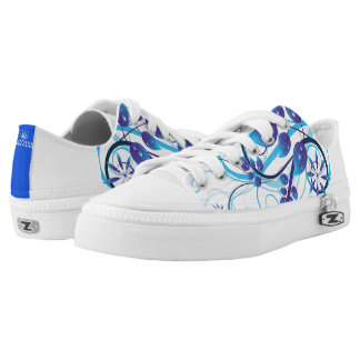 Abstract Blue Design Low Tops
