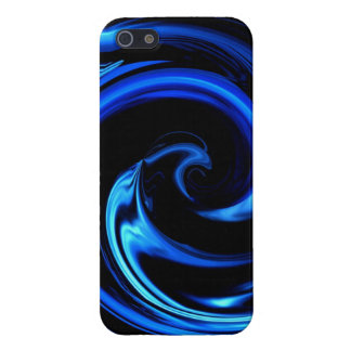 Abstract Blue Dolphin Wave Art iPhone 5 case