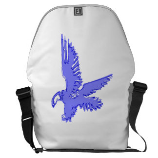 Abstract Blue Eagle Courier Bags