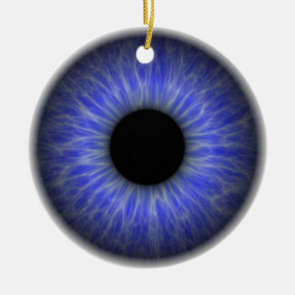 abstract blue eye christmas ornament