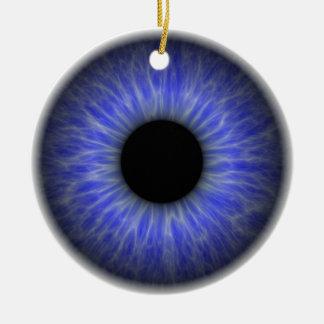 abstract blue eye round ceramic decoration