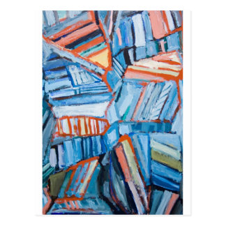 Abstract Blue Faults (abstract natural pattern) Postcards
