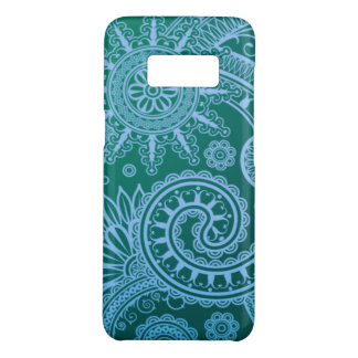 Abstract Blue Floral Pattern Case-Mate Samsung Galaxy S8 Case