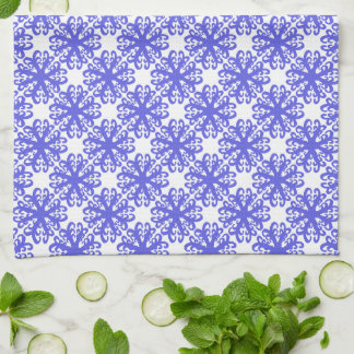 Abstract Blue Flower Kitchen/Tea Towel