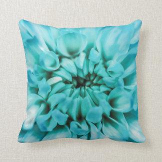 Abstract Blue Flower Pillow