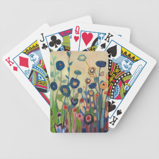 Abstract Blue Garden Playing Cards