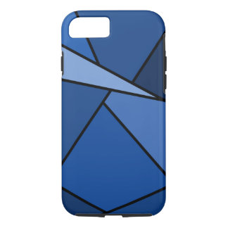 Abstract Blue Geometric Shapes iPhone 8/7 Case