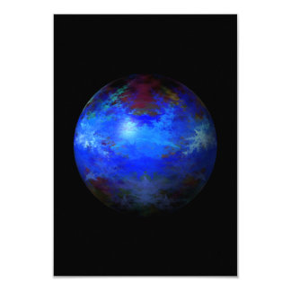 "Abstract Blue Globe 3.5"" X 5"" Invitation Card"