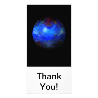 Abstract Blue Globe Photo Greeting Card
