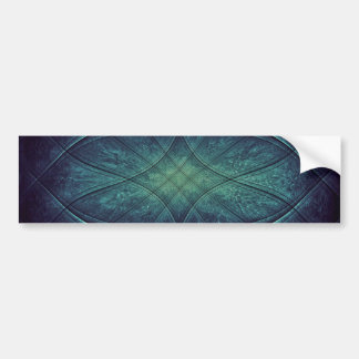 Abstract Blue Green Pattern Bumper Stickers