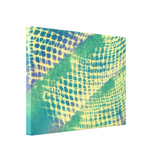 Abstract Blue Green Purple Pattern Canvas Prints