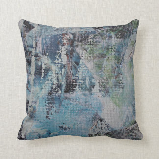 Abstract Blue & Green Scratch Pillow