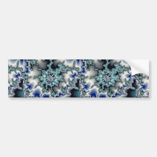 Abstract Blue-green starburst Bumper Stickers