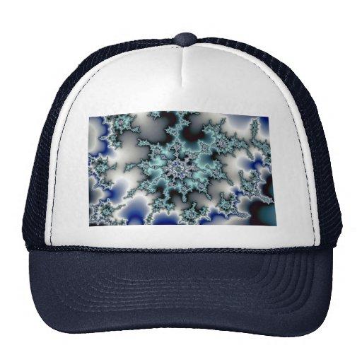 Abstract Blue-green starburst Trucker Hat