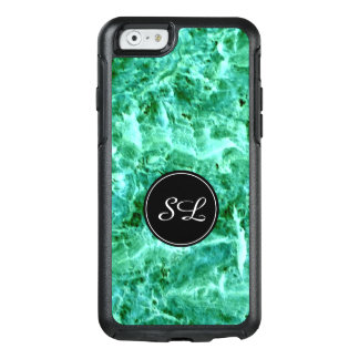 Abstract Blue/Green with Custom Initial.- OtterBox iPhone 6/6s Case