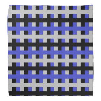 Abstract Blue, Grey and Black Bandana
