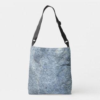 Abstract Blue-grey Stone Texture Crossbody Bag