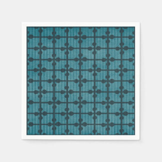 Abstract Blue Grid Design Background Disposable Serviettes
