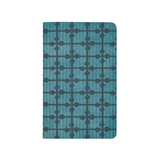 Abstract Blue Grid Design Background Journal