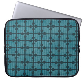 Abstract Blue Grid Design Background Laptop Sleeve