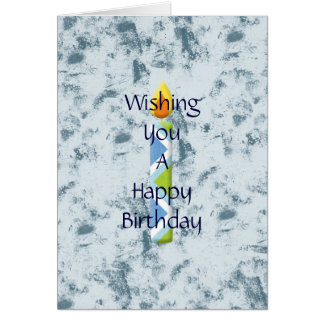 Abstract Blue Grunge Greeting Card