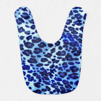Abstract Blue Hipster Cheetah Animal Print Bib