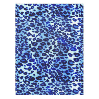 Abstract Blue Hipster Cheetah Animal Print Tablecloth