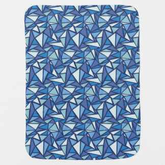 Abstract Blue Ice Crsytal Pattern Baby Blanket
