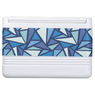 Abstract Blue Ice Crsytal Pattern Igloo Cool Box