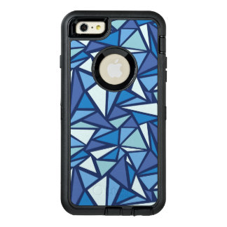 Abstract Blue Ice Crsytal Pattern OtterBox Defender iPhone Case